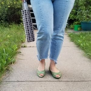 [Crocs] Teal jelly shoes